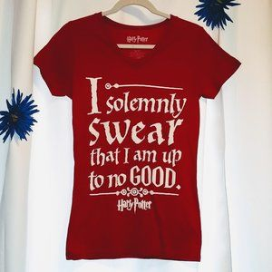 "Harry Potter ""I Do Solemnly Swear"" Tshirt, L"